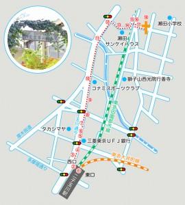 東京第一バプテスト教会案内図