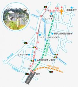 日本バプテスト東京第一教会案内図