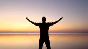 Worship Silhouette Religious Stock Photo